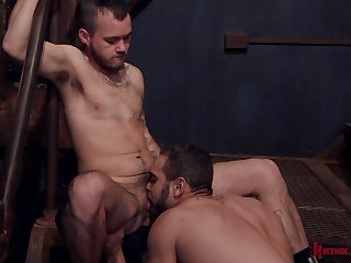 Wild gay blowjob and a rimjob can burn the fire in Sailor James